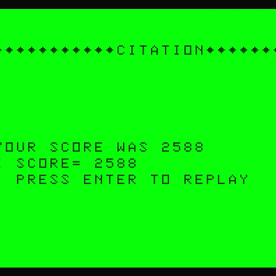 Galactic Attack Dragon 32 score screen (1984 version)