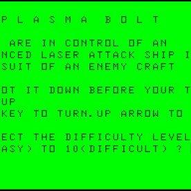 Plasma Bolt (Dragon 32 1984 version)